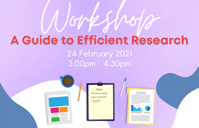 Poster for Workshop: A Guide to Efficient Research